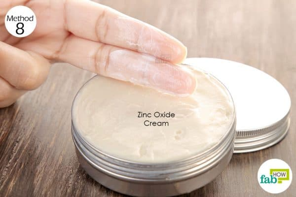 Apply zinc oxide cream on the inflamed skin and massage it gently to get rid of acne inversa