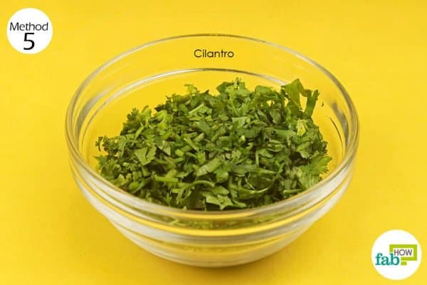 Consume fresh cilantro everyday for 14 to 15 days to get rid of psoriasis