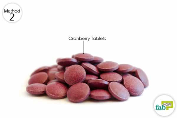 Give cranberry supplements to your dog daily to treat bladder infection in dogs
