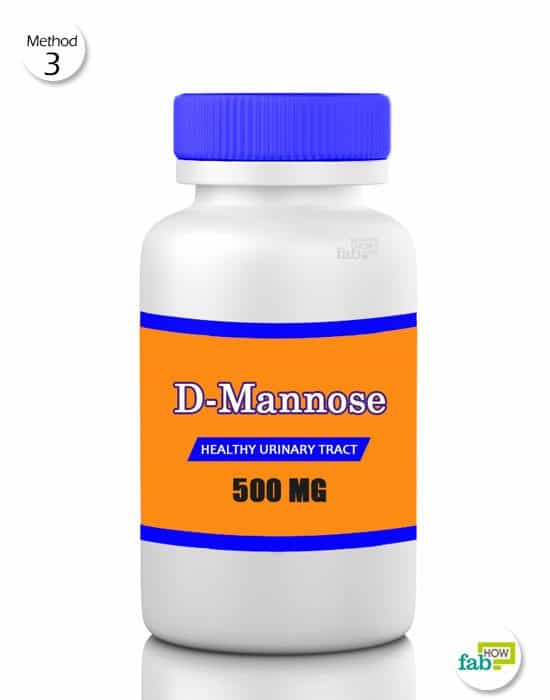 Give D-Mannose to your dog 3 times daily for 3 days to treat bladder infection in dogs