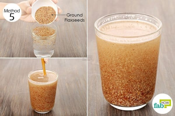 mix well ground flaxseed in a glass of water to help treat PCOS