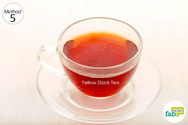 Prepare and consume yellow dock tea to get rid of anemia