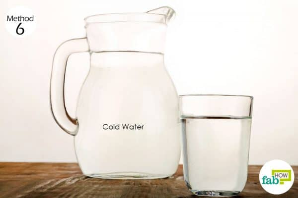 Keep sipping cold water to get relief from the burning sensation