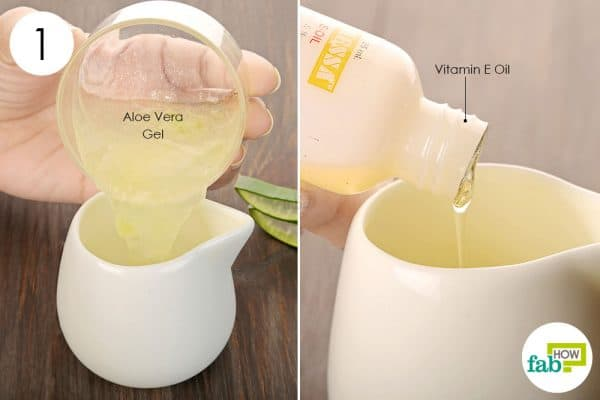 Combine aloe vera gel and vitamin E oil to make your own hand sanitizer