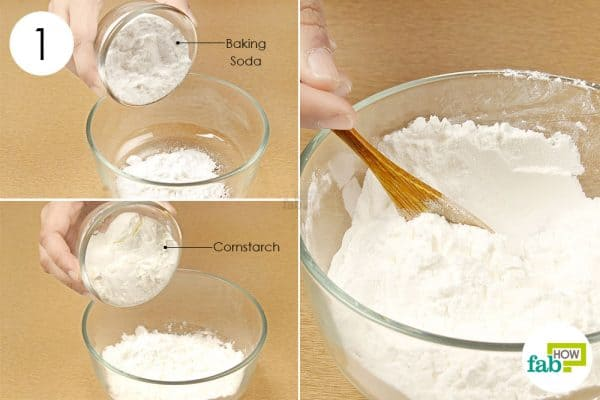 Combine the ingredients in equal amounts and mix to make a paste to use baking soda for hair and skin