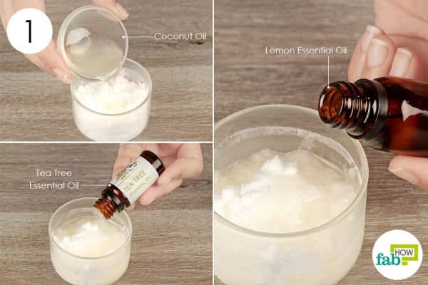 Combine the ingredients into a bowl to use baking soda for hair and skin