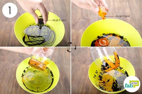 Paint the Mason jar using acrylic colors to make halloween decoration