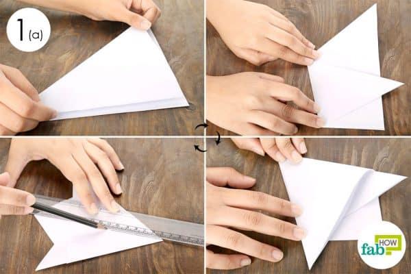 Use white paper to create a stencil