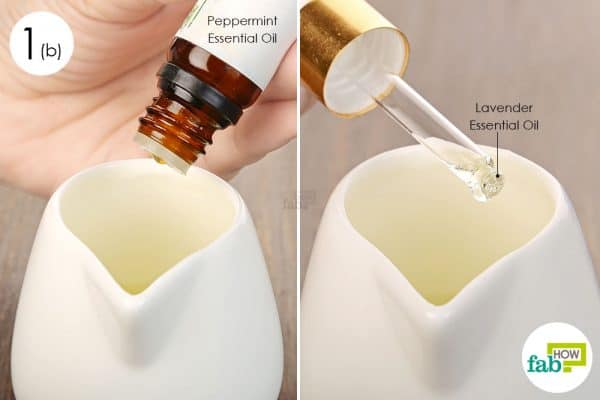 Add in peppermint and lavender essential oils to make your own hand sanitizer