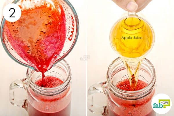 Add apple juice to the blend and consume to get rid of anemia