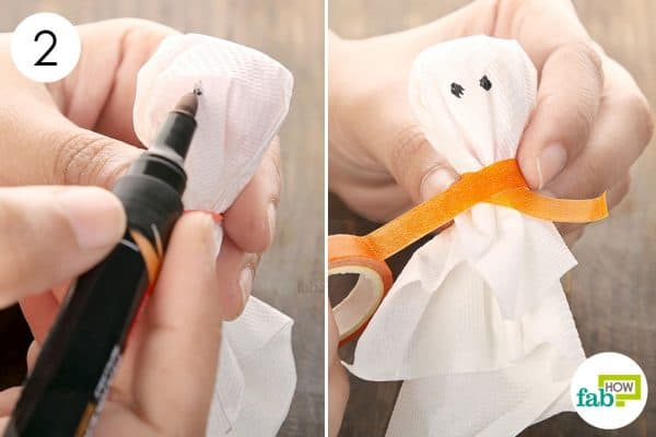Use a Sharpie to make ghost eyes and ribbon to add a bow to make halloween treats
