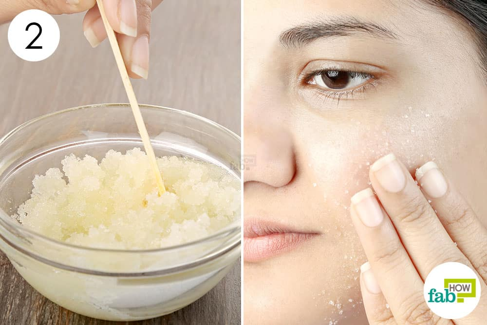 Mix well to blend the ingredients; use it to gently exfoliate your skin and get rid of acne