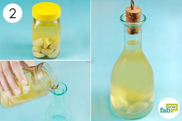 Place the jar in a cool, dry & dark place for 3 weeks, then transfer it to a glass bottle to store garlic