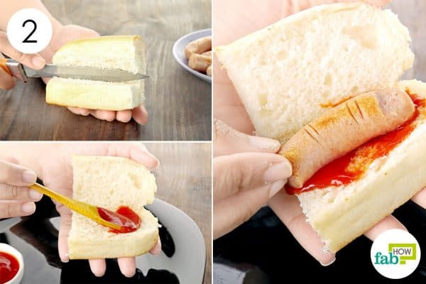 Stuff the buns with ketchup and severed fingers to make halloween treats