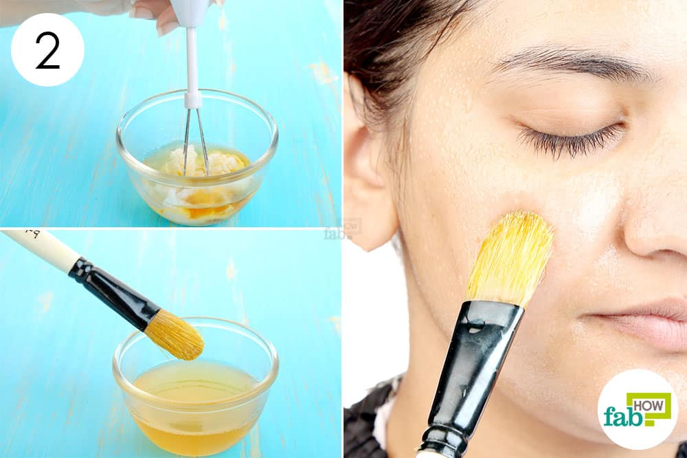 Whisk up the ingredients and apply to make face mask to brighten skin
