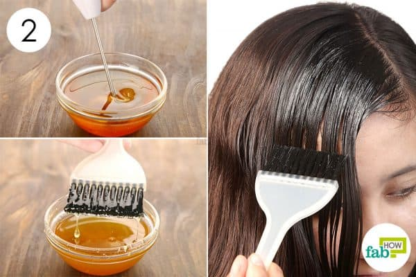 Whisk well to make olive oil hair mask and apply