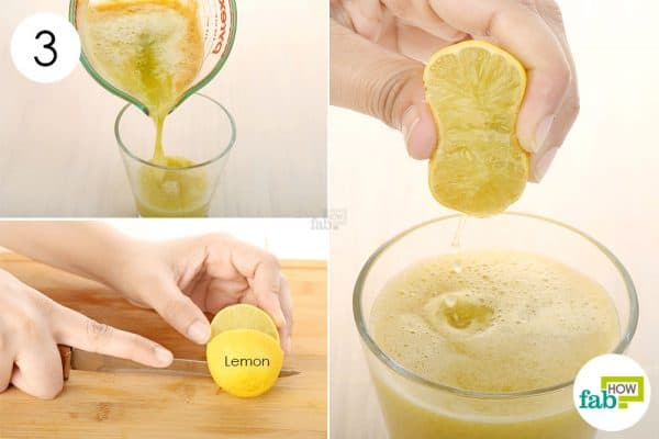 Add fresh lemon juice to the blend to get rid of anemia