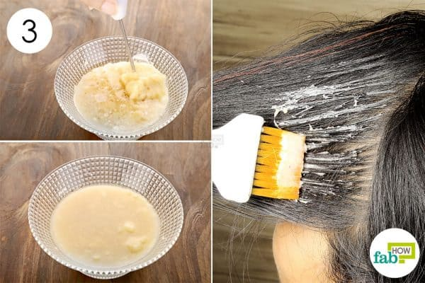 whisk well and apply the hair mask once a week to make coconut oil hair mask