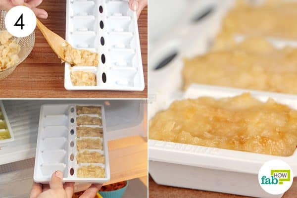 Freeze the roasted garlic pulp in ice trays to store garlic for upto 3 months