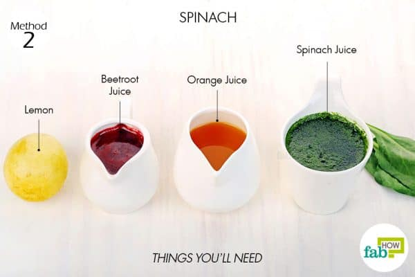 things you'll need to make spinach juice to get rid of anemia