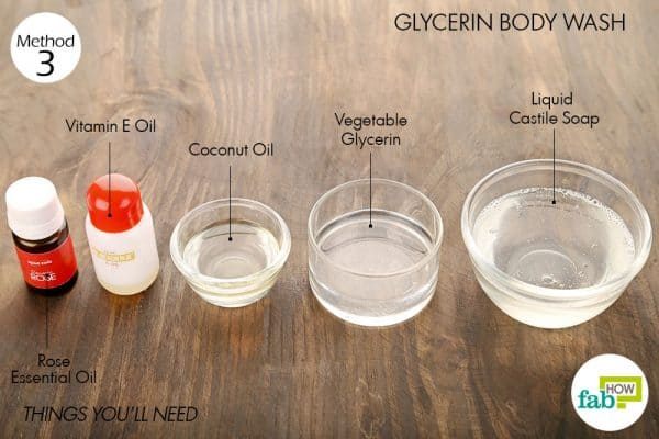 things you'll need to make diy body wash with glycerin