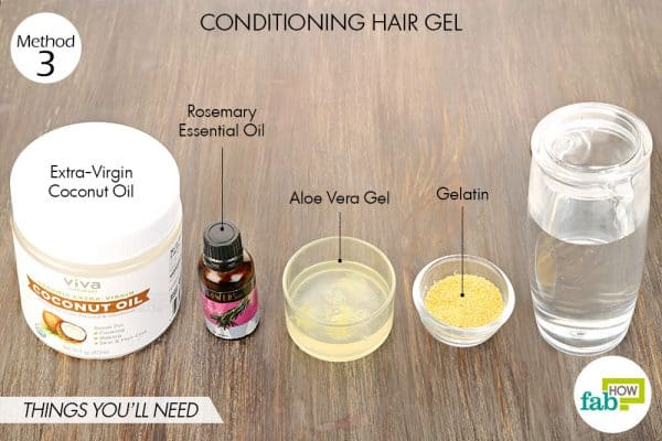 Things needed to make DIY conditioning hair gel