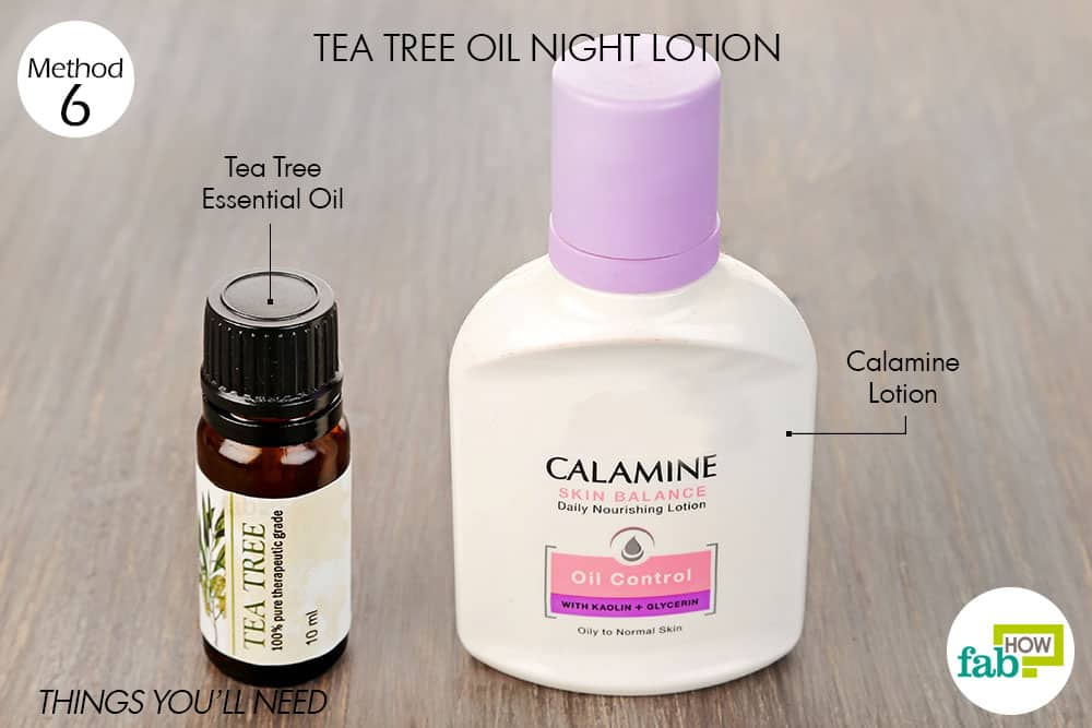 Things needed to make tea tree oil night lotion