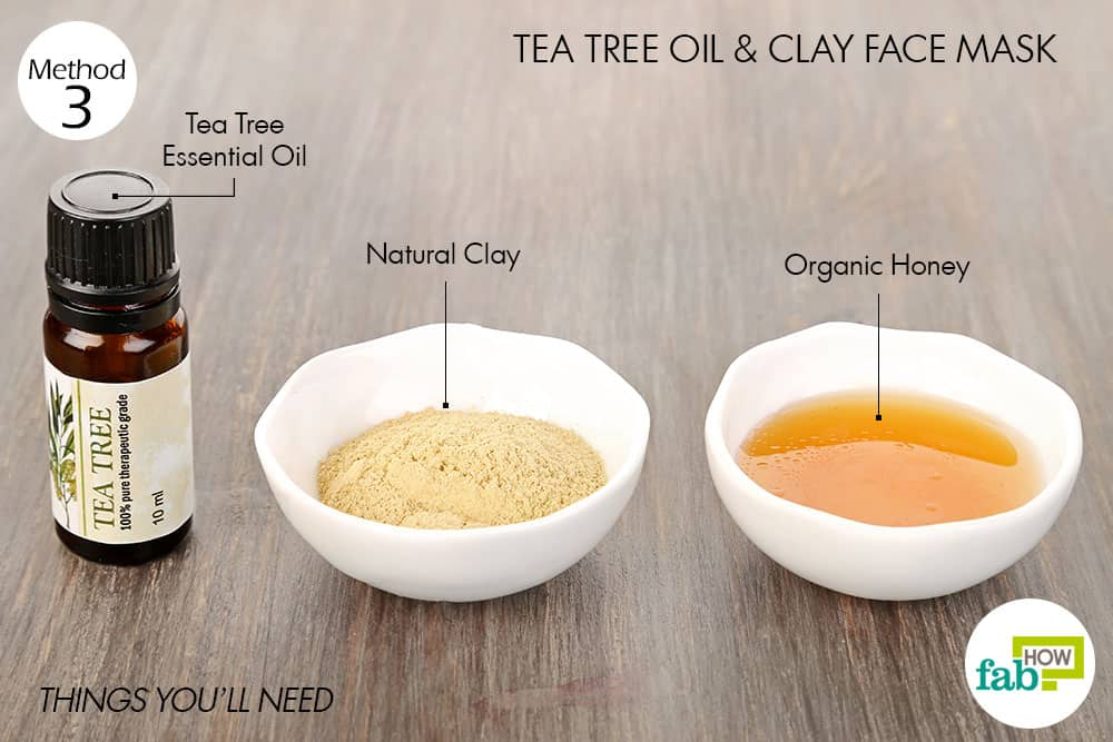 How to use tea tree oil for acne 7 most popular remedies fab how things needed to make tea tree oil and clay face mask for acne solutioingenieria Gallery