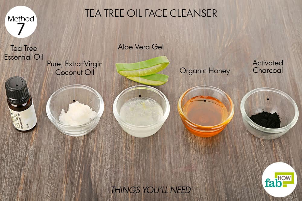 Things needed to make tea tree oil face cleanser
