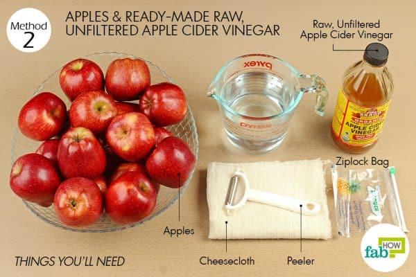 things you'll need to make apple cider vinegar using readymade vinegar