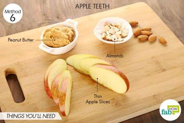 things you'll need to make apple teeth halloween treats