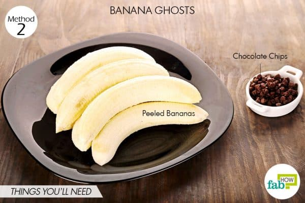 things you'll need to make banana ghosts halloween treats