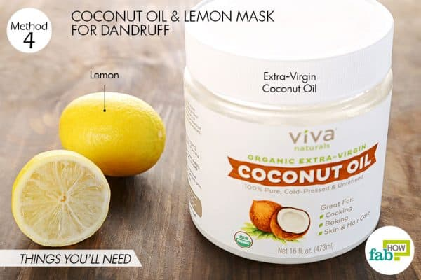 Things you'll need to make coconut oil hair mask for dandruff