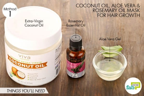 Things you'll need to make coconut oil hair mask for hair growth