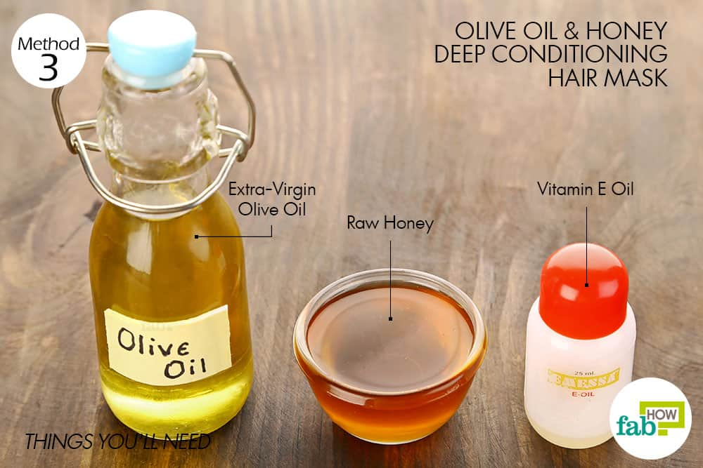 things you'll need to make olive oil hair mask for deep conditioning