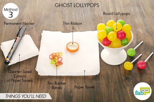 things you'll need to make ghost lollypops halloween treats