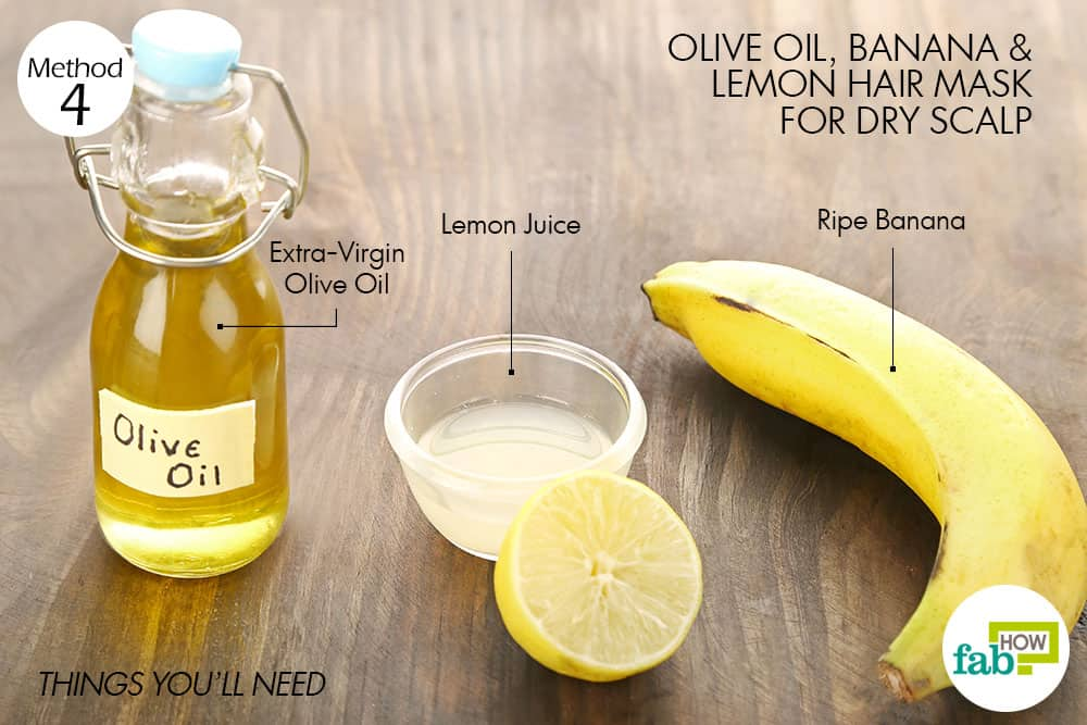 things you'll need to make olive oil hair mask for dry scalp