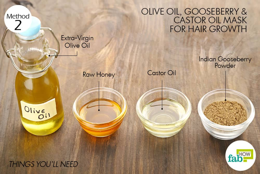 things you'll need to make olive oil hair mask for hair growth