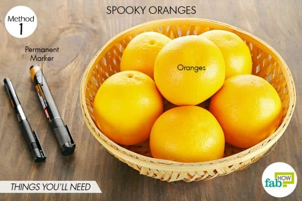 things you'll need to make spooky oranges halloween treats