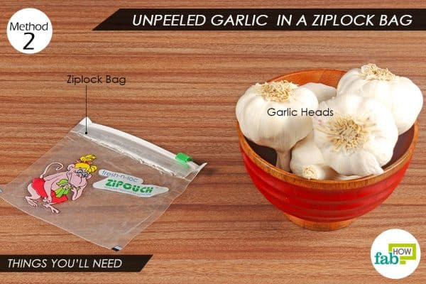 Things you'll need to store garlic