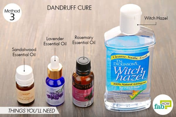 Things needed to make dandruff cure using witch hazel