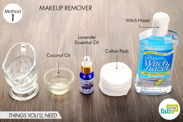 Things needed to make witch hazel makeup remover