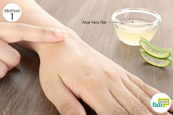 Apply aloe vera gel thrice daily to get rid of itchy skin