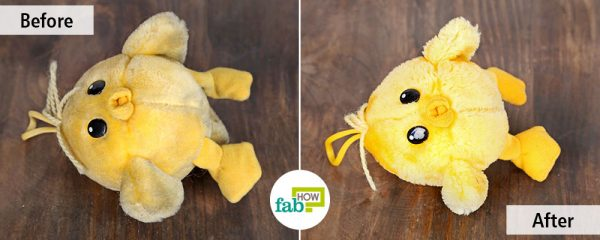 before and after hand wash to clean stuffed toys