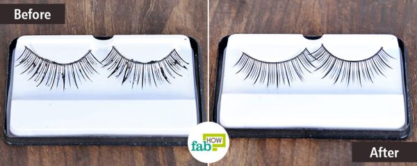 Use eye makeup remover to clean false eyelashes