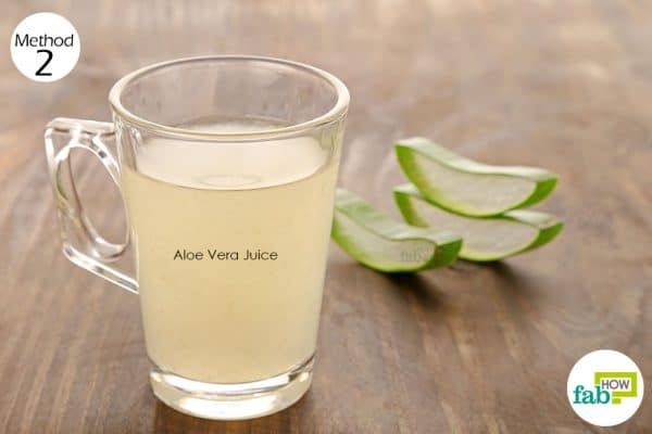 Consume aloe vera gel to treat diverticulitis