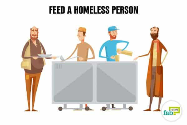 Create your bucket list and feed a homeless person