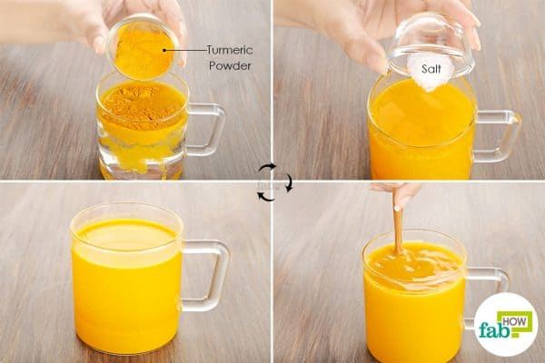 Use turmeric for health-gargle with warm water, turmeric, and salt to get rid of phlegm