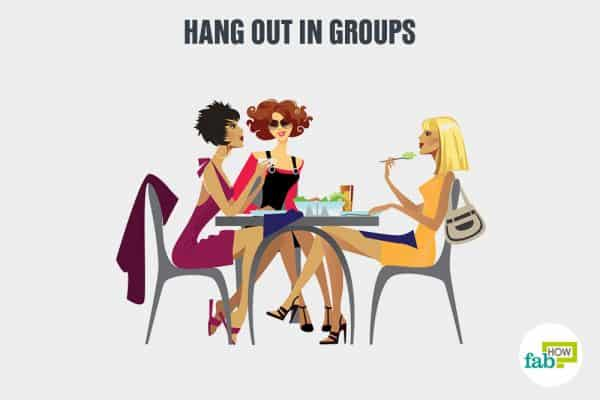 Deal with negative people by hanging out in groups