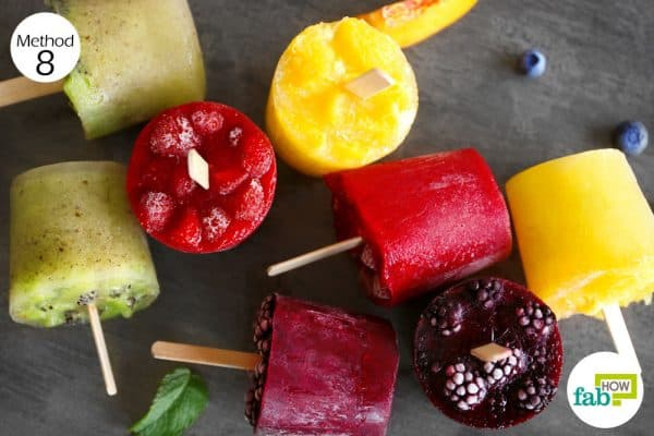 Consume fruit-flavored popsicleb to treat diverticulitis